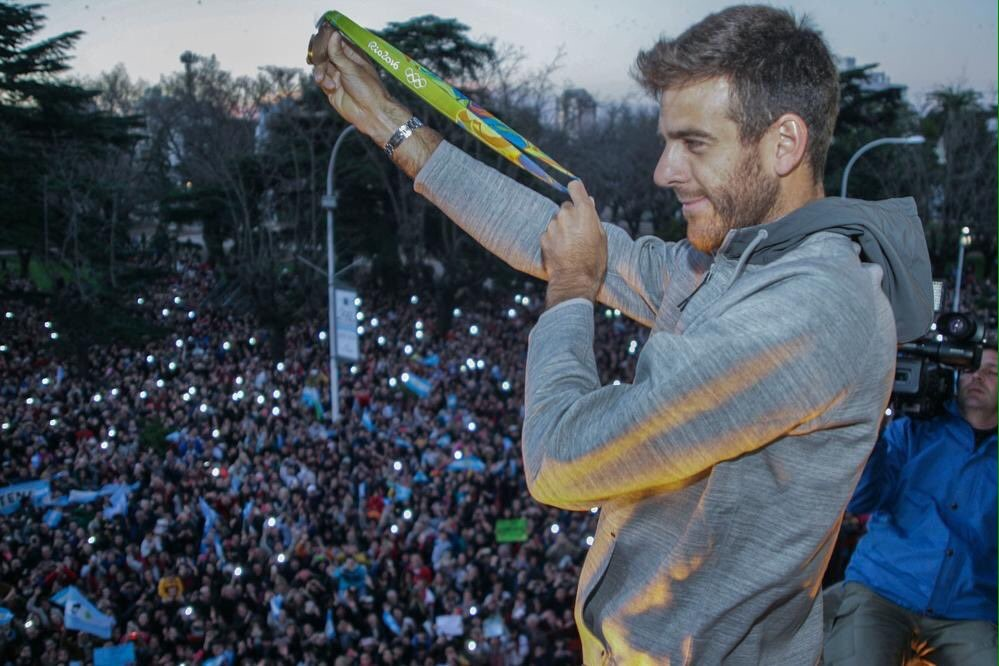 photo posted by del Potro on Twitter after having won the Olympics silver medal